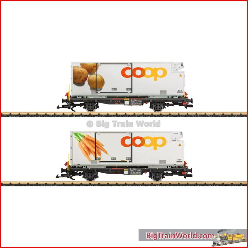 LGB 45898 - Set RhB containerwagens, coop® - New 2015