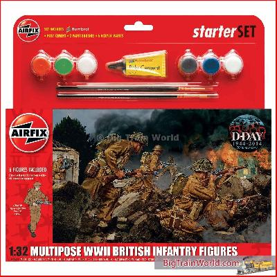 Airfix 55211 - WWII BR INF MULTIP.GIFT SET