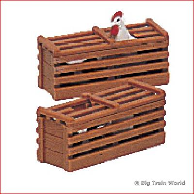 Bachmann 92412 - TWO CHICKEN CRATES G