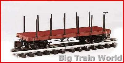 Bachmann 95670 - 20ft. Flat Car - Painted, Unlettered (Oxide Red)