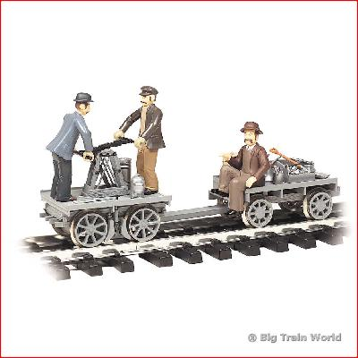 Bachmann 96201 - GANDY DANCER HAND CAR TRAILER G