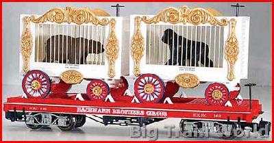 Bachmann 98381 - Bachmann Brothers Circus Car Flat With Bear And Gorilla Wagons