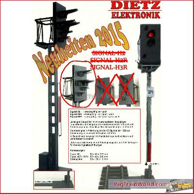Dietz H3R Signal red/green/yellow/white vor HSB / DR - Scale IIm / G