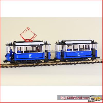 LGB 20202 Bleu electric trolley set, G-track, llm. | Big Train World