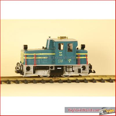 LGB 20605 - Schoema diesel loco green/blue, MZS decoder, used, No box