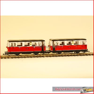 "LGB 2065 - Powered Rail Car and Control Car ""Friesland"", used, no box"