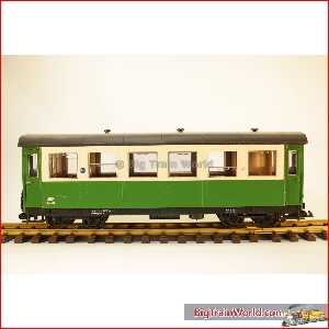 LGB 34640 St.LB. BIA 70 - Passenger car, beige / green, nice condition, no box