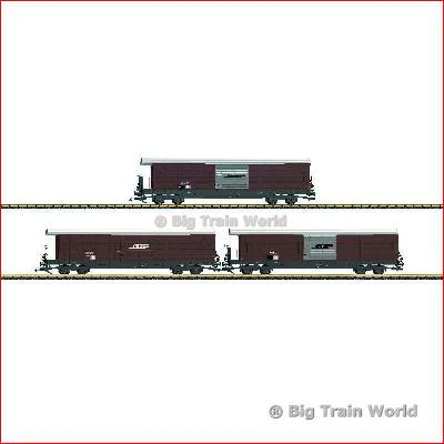 LGB 40080 RhB Freight Car Set Type Gak-v | Big Train World