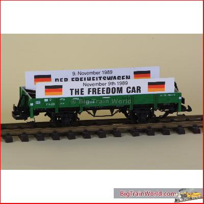 LGB 4010 - LGB Freedom car, with piece of the Iron Curtain