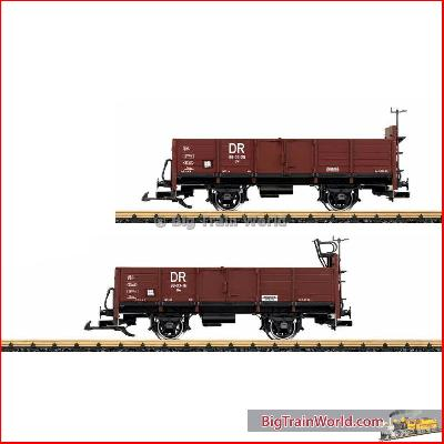 LGB 41031 - Pair of Gondola Cars, DR, Era IV type 0w