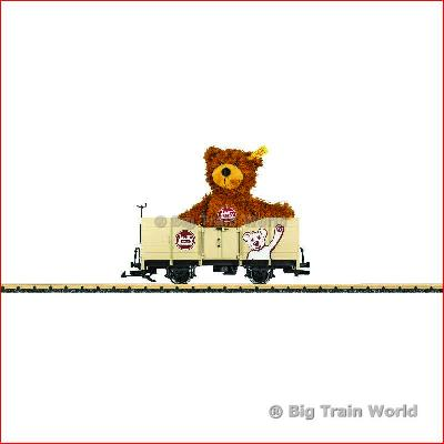 LGB 41229 Open Freight Car Steiff Teddy | Big Train World