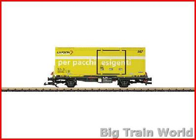 "LGB 47893 RhB ""La Posta"" Container Flat Car 