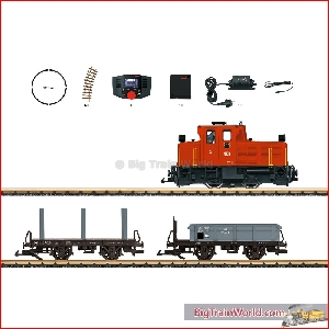 LGB 70231 - Freight Train Starter Set, 230 Volts, with a Mobile Station - New 20