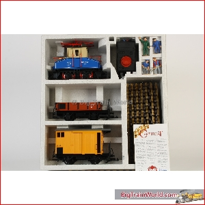 LGB 70999 - E-Lok starter set; with 2 x freight car, circle track, transformer