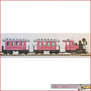 LGB 72306 - Pink Train Set with tender & extra cars - Massoth LS decoder, Used