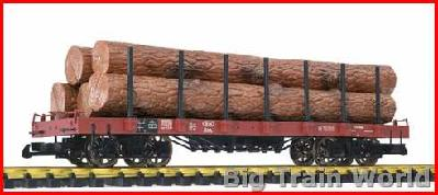 Liliput 95752 - Flat Car + Stanchions & Wooden Trunks