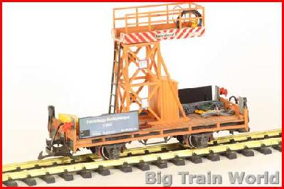 LGB 45305 - Tower car - with load - Wheatered and improved