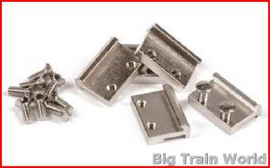 Massoth 8102450 - Rail Clamp RAILLAS 19MM CHROOM 50 ST.