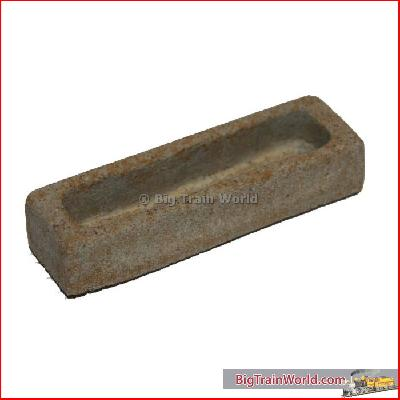 Elongated container medium, sandstone, beige