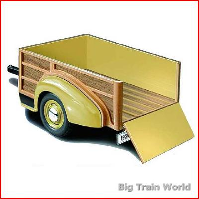 Motor City Classics 200255 - CChevrolet Woody Wagon Trailer 1939, 1:18