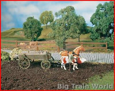 Pola 1859 - Liquid manure wagon with cow and horse