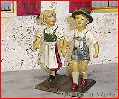 Kinderpaar Set,                         2 Figuren (Metall)