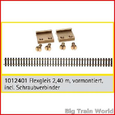 Train Line45  1012401 - Flextrack, assembled, ~ 8 ft. with railclamps,