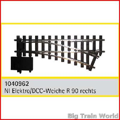 Train Line45  1040962 - Electric/DCC switch, right, nickel plated