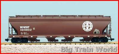 USA Trains R14103 - BNSF 4 BAY HOPPER-MINERAL BRN