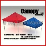 American Diorama 77589 - 1/24 Canopy set with White Frame. Each set comes w...