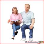 Bachmann 22-184 - Sitting young man and woman - New 2015