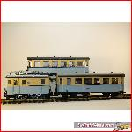 Kiss LGB 22460 - Special made rack loco + 2 x passenger car
