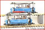 LGB 20202it - Oldtimer street car with trailer / blue