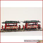 LGB 2035K - Oldtimer Christmas Streetcar set - USA Exlusive - Used