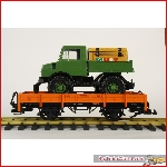Low side gondola with unimog, from LGB starter set 20530