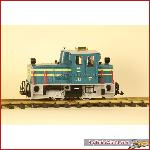 LGB 20605 - Schoema diesel loco green/white, MZS decoder, good condition, No box