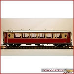 LGB 30650 - RHB Saloncar As 1142 with light & metal wheels, New in box