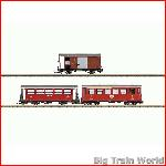 LGB 36641 Furka Oberalp Passenger Car Set | Big Train World
