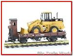 LGB 40124 - Low Sided Gondola w/ Caterpillar Load