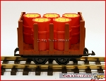 LGB 40450 Field Railroad Flatcar with barrels | Big Train World