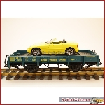 LGB 70520 W1 - Cartransport wagon with yellow BMW, used