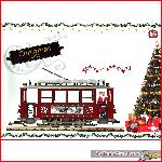 LGB 72351 - Christmas Streetcar Starter Set, USA Exlusive - 120V US transformer!