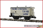 MTH 20-99007 - European Reefer Car Brewery Loewengarten - Used, Display Model