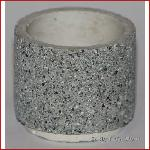 Flower box cylinder, concrete, gray