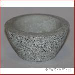 Flower box bowl, concrete, gray