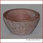 Flower box bowl, concrete, red / brown