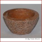 Flower box bowl, concrete, ocher