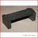 Park bench granite, dark gray