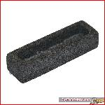 Elongated container medium, granite, gray