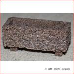 Flower box rectangle, granite, brown / red